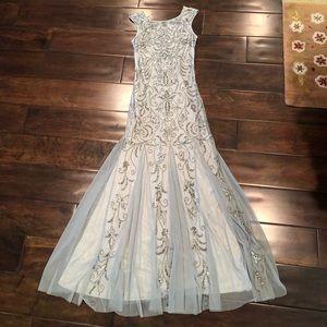 Floor length beaded gown